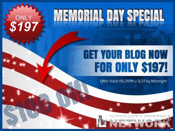 [Memorial Weekend Special] Get $100 Off Your Custom Designed Website! Attract People... Instead Of Having To Find Them!